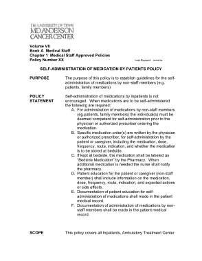 Free Download PDF Books, Administration of Medication Policy by Patients Policy Template