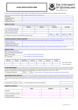 Job Leave Application Form Template Free Download Free Pdf Books