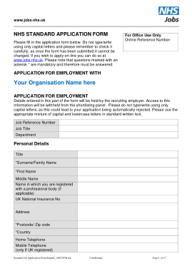 Free Download PDF Books, Standard Job Application Form Sample Template