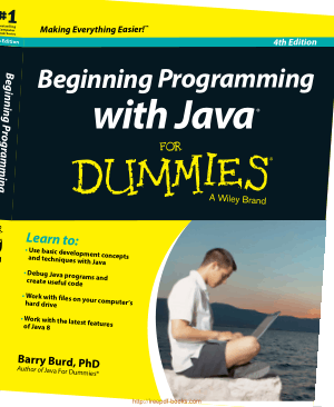 Beginning Programming With Java For Dummies 4th Editionbook