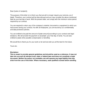 Free Download PDF Books, Sample Employee Contract Termination Letter Template