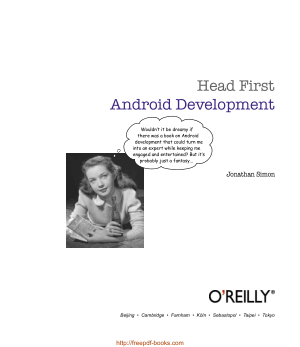 Free Download PDF Books, Head First Android Development