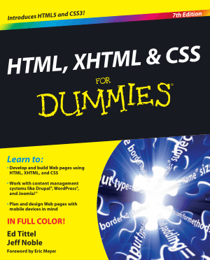 Free Book HTML XHTML CSS For Dummies 7th Edition