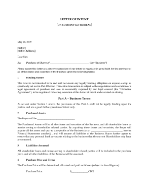 Free PDF Books, Letter of Intent to Purchase Business PDF Template