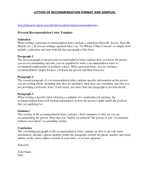 Free PDF Books, Formal Character Letter of Recommendation Template
