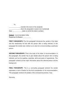 Free PDF Books, Letter Of Recommendation Format Template