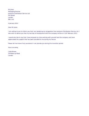 Free PDF Books, Professional Resignation Letter Template