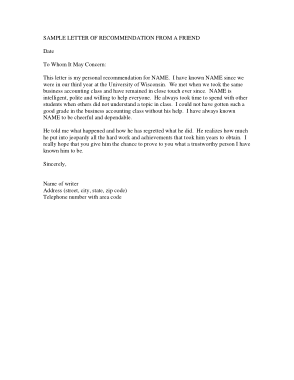 Free PDF Books, Recommendation Letter For A Friend Template