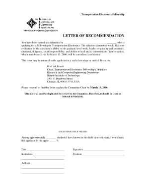 Free Download PDF Books, Recommendation Letter Template Example Template