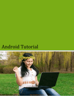 Android Tutorial, Pdf Free Download