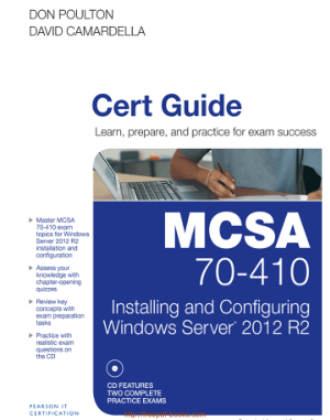 Free Download PDF Books, MCSA 70 410 Cert Guide R2