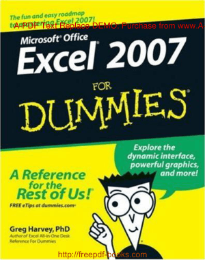 Free Download PDF Books, Microsoft Office Excel 2007 For Dummies