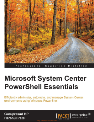 Microsoft System Center Powershell Essentials Book