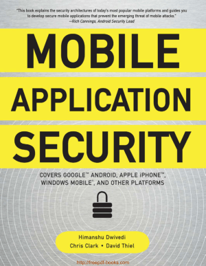 Free Download PDF Books, Mobile Application Security