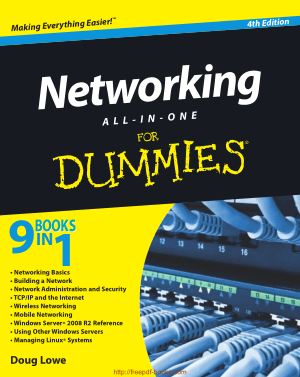 Free Download PDF Books, Networking All in One For Dummies 4th Edition – Networking Book