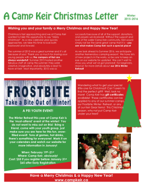 Free PDF Books, Christmas Holiday Newsletter Template