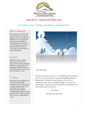 Free PDF Books, Sample Holiday Newsletter Template