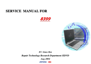 Noname Mitac 8399 Service Manual