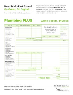 Plumbing Work Order Invoice Template Free Download Free Pdf Books