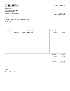 Free Download Simple Invoice Template Free Download Free Pdf Books