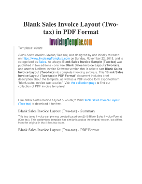 Sales Tax Invoice Template Free Download Free Pdf Books