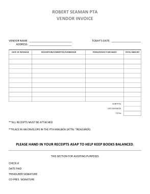 Blank Vendor Invoice Template Free Download Free Pdf Books
