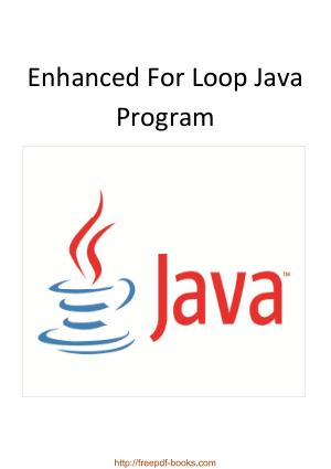 Free Download PDF Books, Enhanced For Loop Java Program