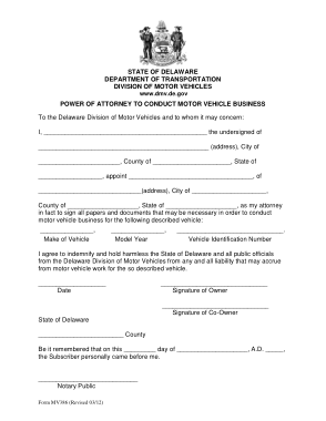 Free Download PDF Books, De Motor Vehicle Power Of Attorney Mv 386 Form Template