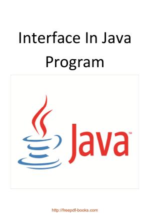 Interface In Java Program