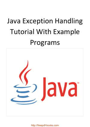 Free Download PDF Books, Java Exception Handling Tutorial With Example Programs