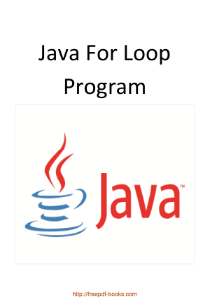 Free Download PDF Books, Java For Loop Program