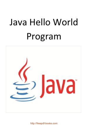 Java Hello World Program