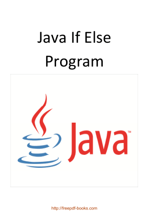Free Download PDF Books, Java If Else Program