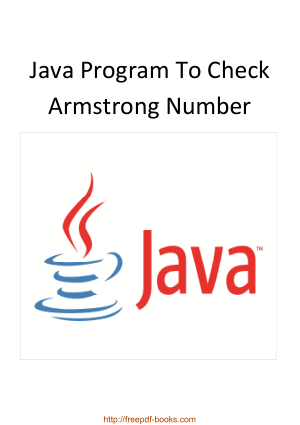Java Program To Check Armstrong Number, Java Programming Tutorial Book