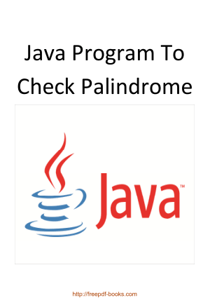 Java Program To Check Palindrome