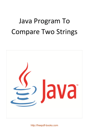 Free Download PDF Books, Java Program To Compare Two Strings
