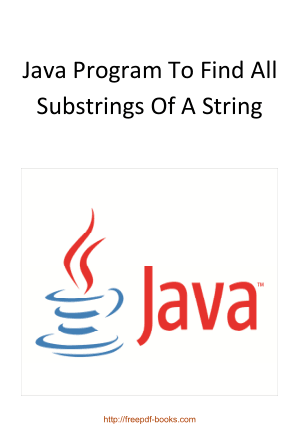 Java Program To Find All Substrings Of A String