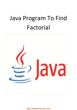 Free Download PDF Books, Java Program To Find Factorial