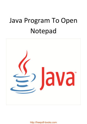 Free Download PDF Books, Java Program To Open Notepad