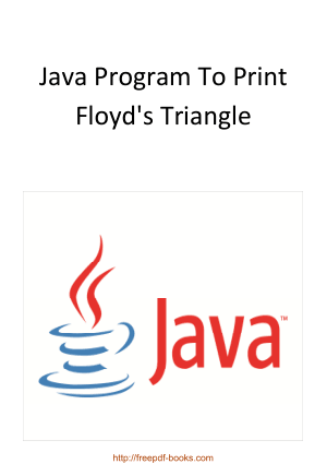 Java Program To Print Floyd's Triangle, Java Programming Tutorial Book