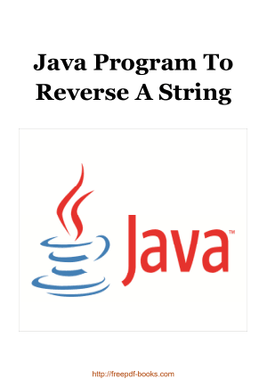 Free Download PDF Books, Java Program To Reverse A String