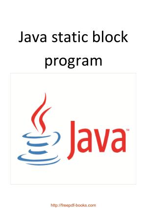 Java Static Block Program