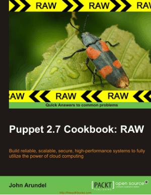 Puppet 2.7 Cookbook Book