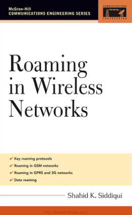 Roaming In Wireless Networks Book