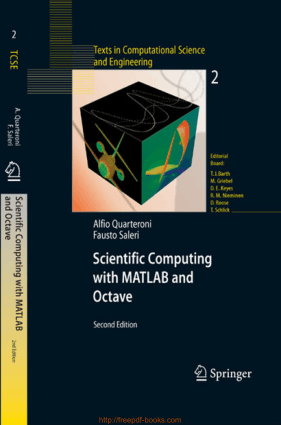 Free Download PDF Books, Scientific Computing With MATLAB And Octave 2nd Edition
