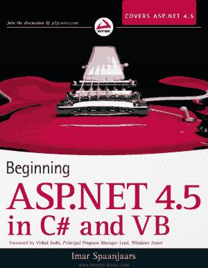 Free Download PDF Books, Beginning ASP.Net In C# And VB, Pdf Free Download