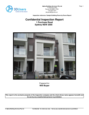 Free Download PDF Books, Sample Building Room by Room Inspection Report Form Template