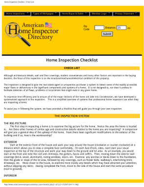 Free Download PDF Books, Home Inspectot Directory Inspection Checklist Form Template