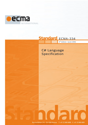 Free Download PDF Books, C# Language Specification, Pdf Free Download