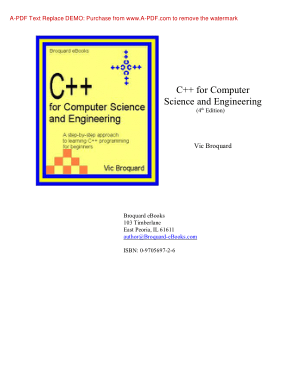 C++ For Computer Scienceand Engineering 4 Edition Book
